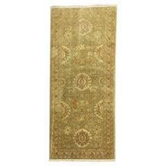 Gold Green Persian Tabriz  Rug