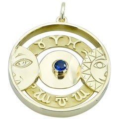 Gold Gubelin Astrological Charm