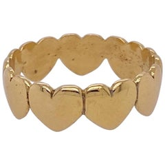 Gold Heart Eternity Band