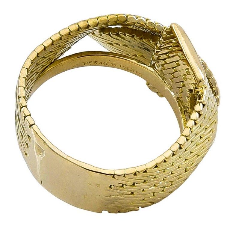 Women's or Men's Gold Hermes Ring For Sale