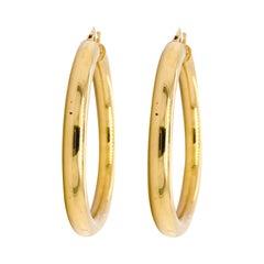 Gold Hoop Earrings Yellow Gold, 4 Grams