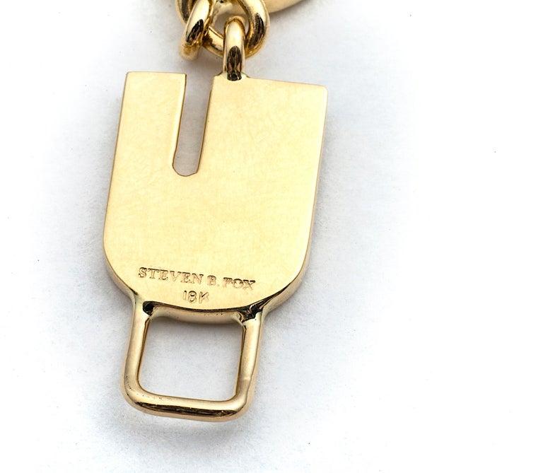 Contemporary Gold I Love You Bracelet For Sale