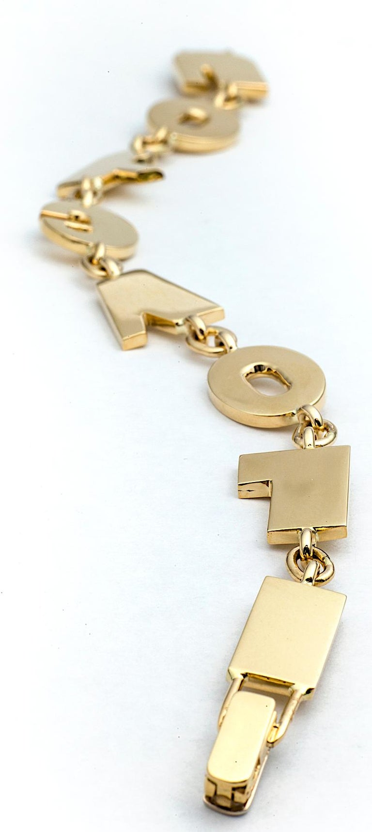 Gold I Love You Bracelet In New Condition For Sale In Greenwich, CT