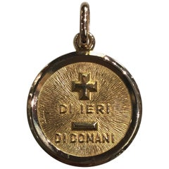 Gold Italian More Than Yesterday Charm