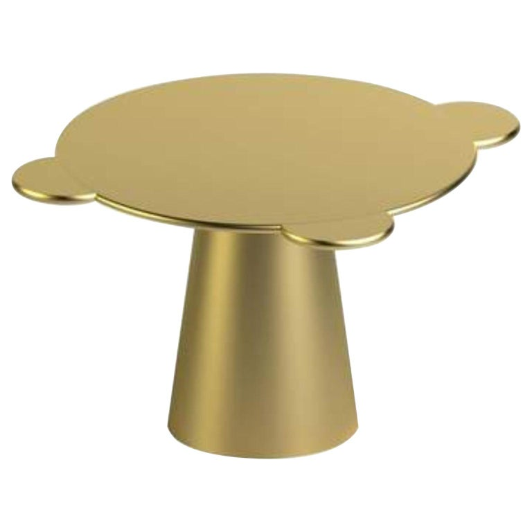 Gold Lacquered Wood Contemporary Donald Table by Chapel Petrassi For Sale