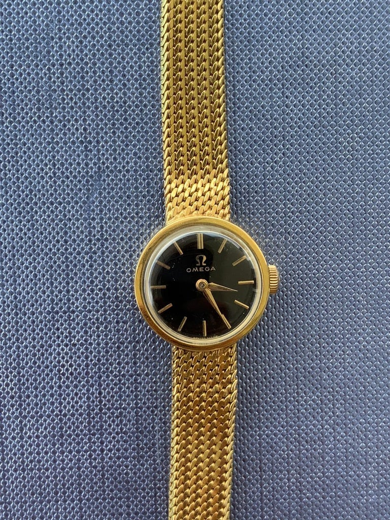 Mid-Century Modern Gold Lady's Omega 1966 Wristwatch For Sale