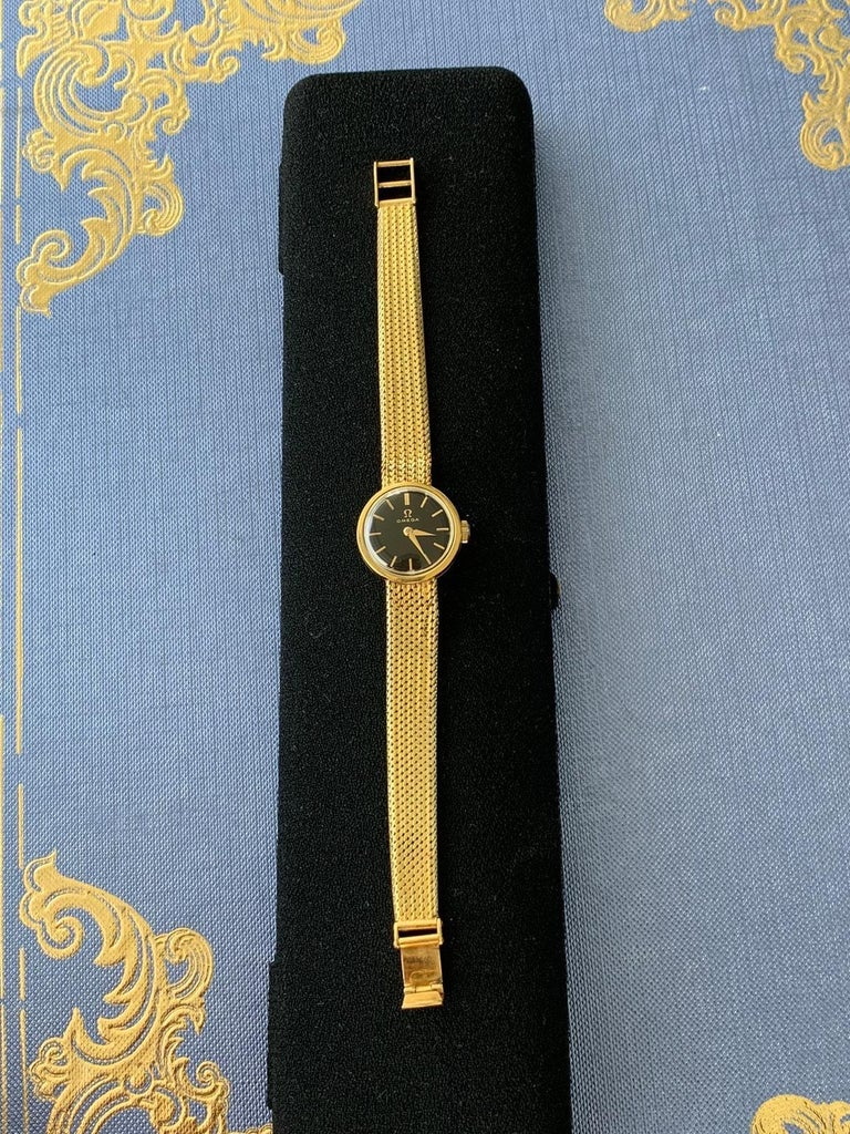 Swiss Gold Lady's Omega 1966 Wristwatch For Sale