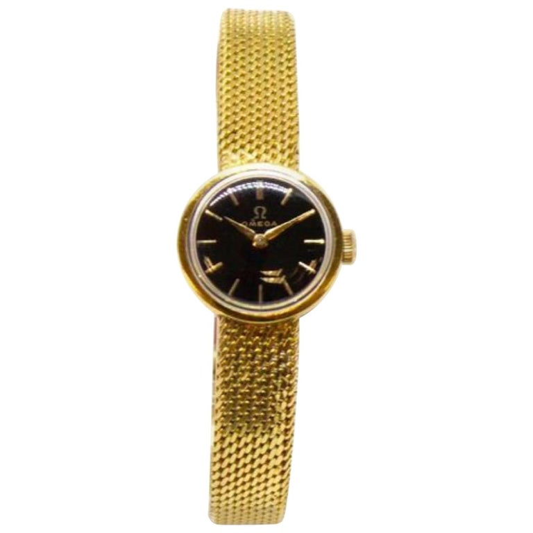 Gold Lady's Omega 1966 Wristwatch For Sale