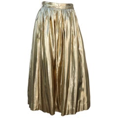 Gold Lamé Partique NY Disco Skirt With Netting, 1970's
