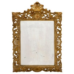 Gold Leaf Antique French Mirror