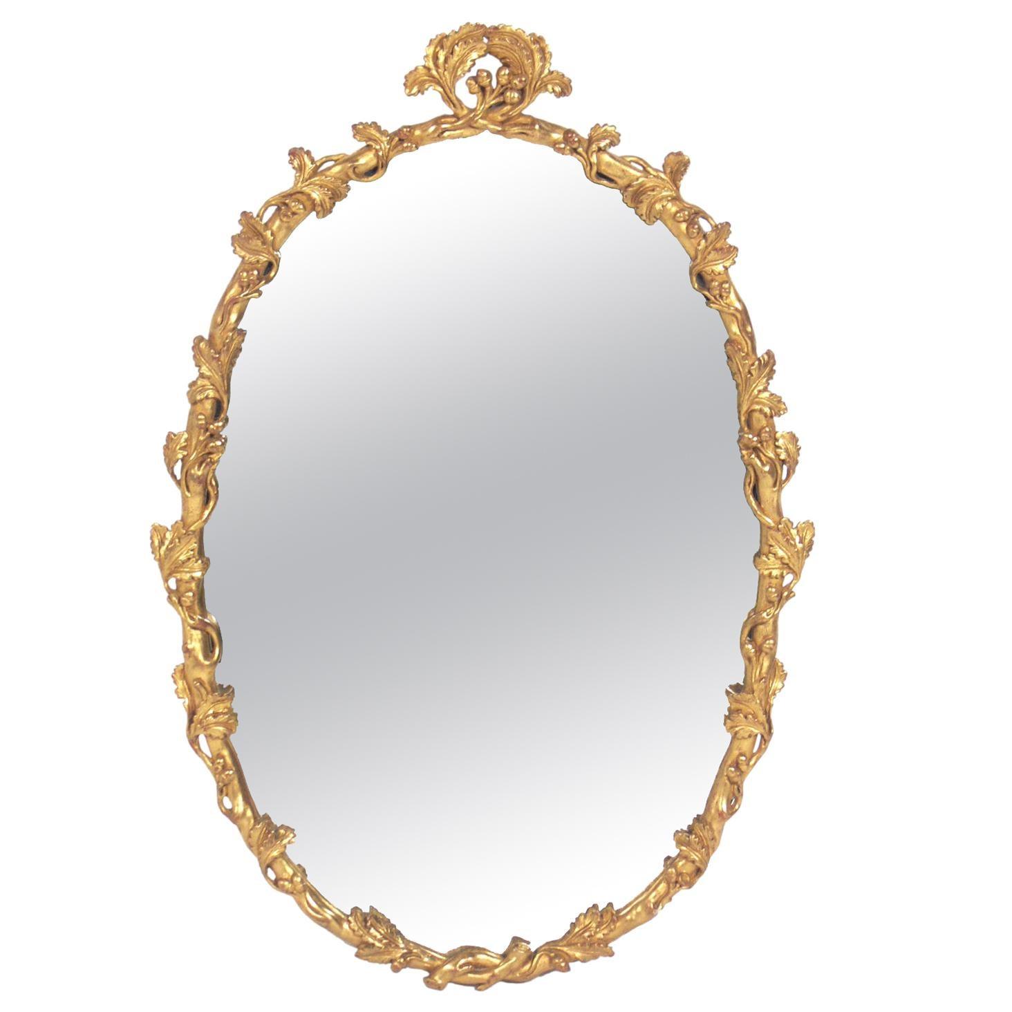 Gold Leaf Branches Mirror