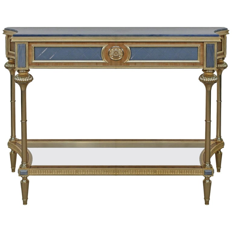 Gold Leaf Console Table For Sale