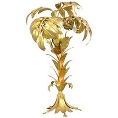 Gold Leaf Hollywood Regency Lamp by Hans Kögl