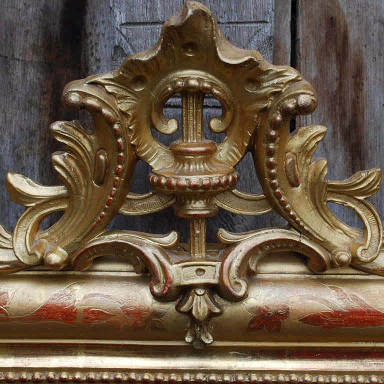 Gold Leaf Louis Philippe Mirror With Crest For Sale At 1stdibs