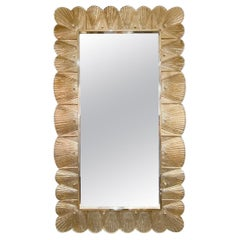 Gold Leaf Murano Glass Mirror