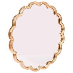 Gold Leaf Scalloped Circular 'Monaco' Mirror