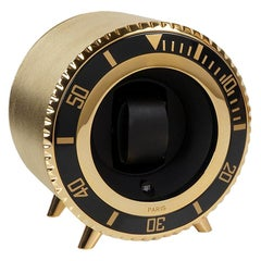 Gold Leather Watch Winder