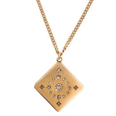Gold Locket and Chain Necklace