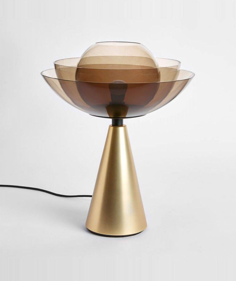 Gold lotus table lamp by Serena Confalonieri