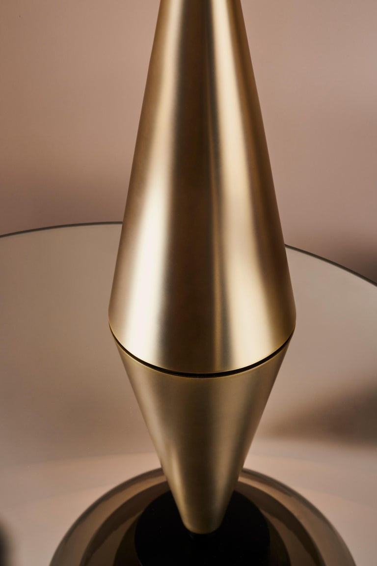 Modern Gold Lotus Table Lamp by Serena Confalonieri For Sale