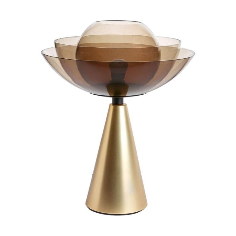 Gold Lotus Table Lamp by Serena Confalonieri For Sale