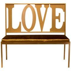 Gold Love Bench