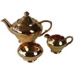 Gold Lustre Royal Winton 3-Piece Tea Service in Mint Condition