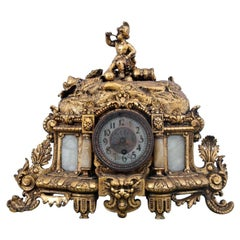 Gold Mantel Clock, France, circa 1900