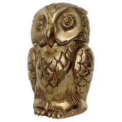 Gold Mauro Manetti Owl Ice-Bucket, Italy, 1960s