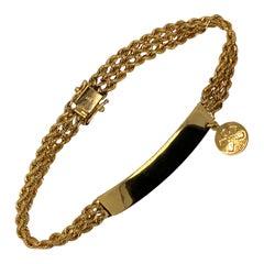 Gold Medical Alert ID Bracelet