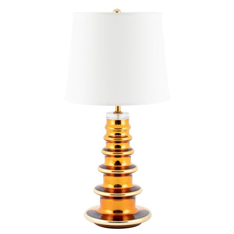 Gold Mercury Gl Totem Table Lamp By Johansfors Glasbruk Circa 1960s For