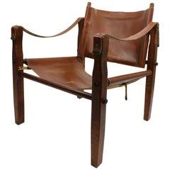 Gold Metal Folding Safari Chair Made in Racine Wisconsin