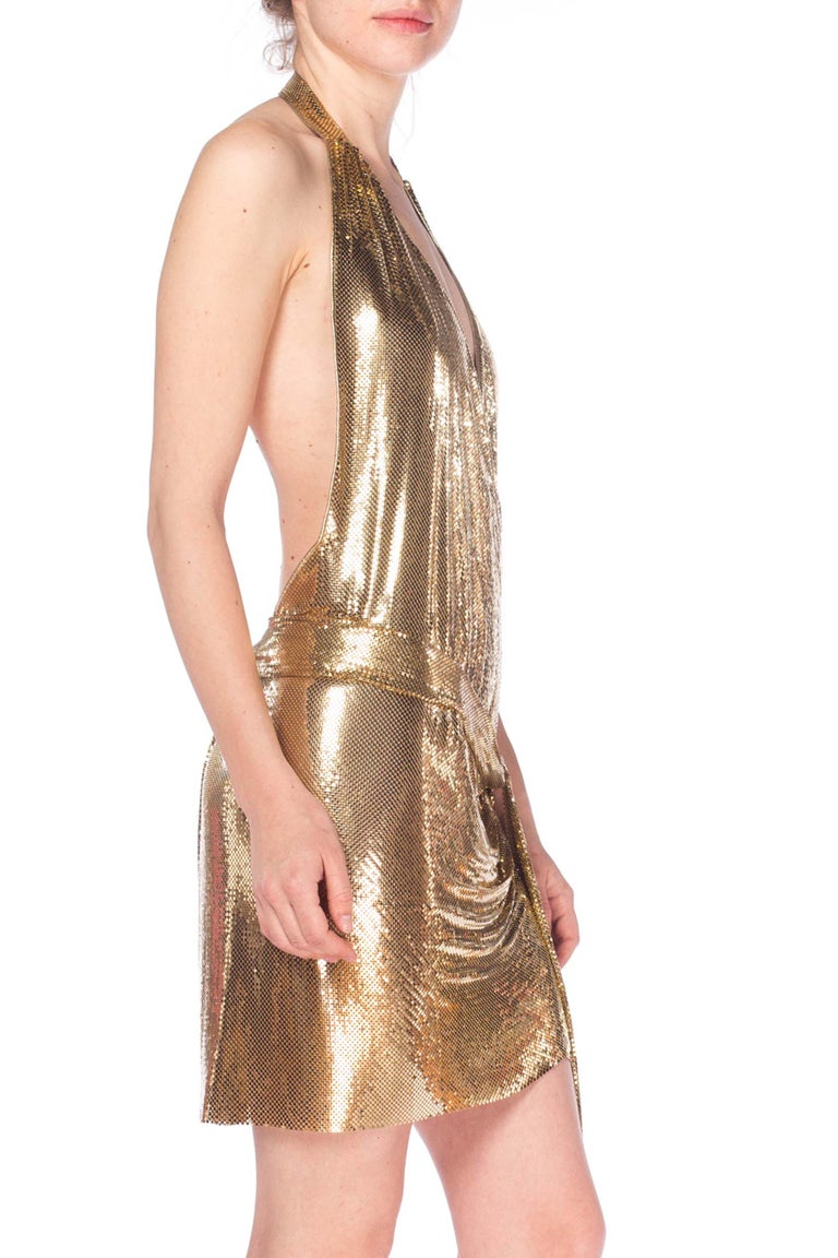 Gold Metal Mesh Dress  For Sale 5