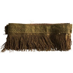 Gold Metallic Threads Antique Trim and Fringe