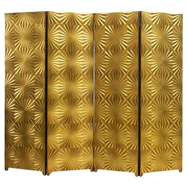 Super Gold Midcentury Room Divider Italy Circa 1970S For Sale At Interior Design Ideas Tzicisoteloinfo