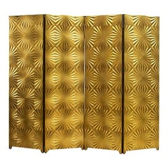 Gold Midcentury Room Divider, Italy, circa 1970s