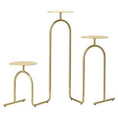 Gold Minimalist Pedestal Table