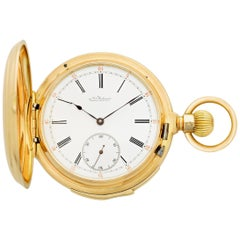 Gold Minute Repeater Pocket Watch by Louis Audemars