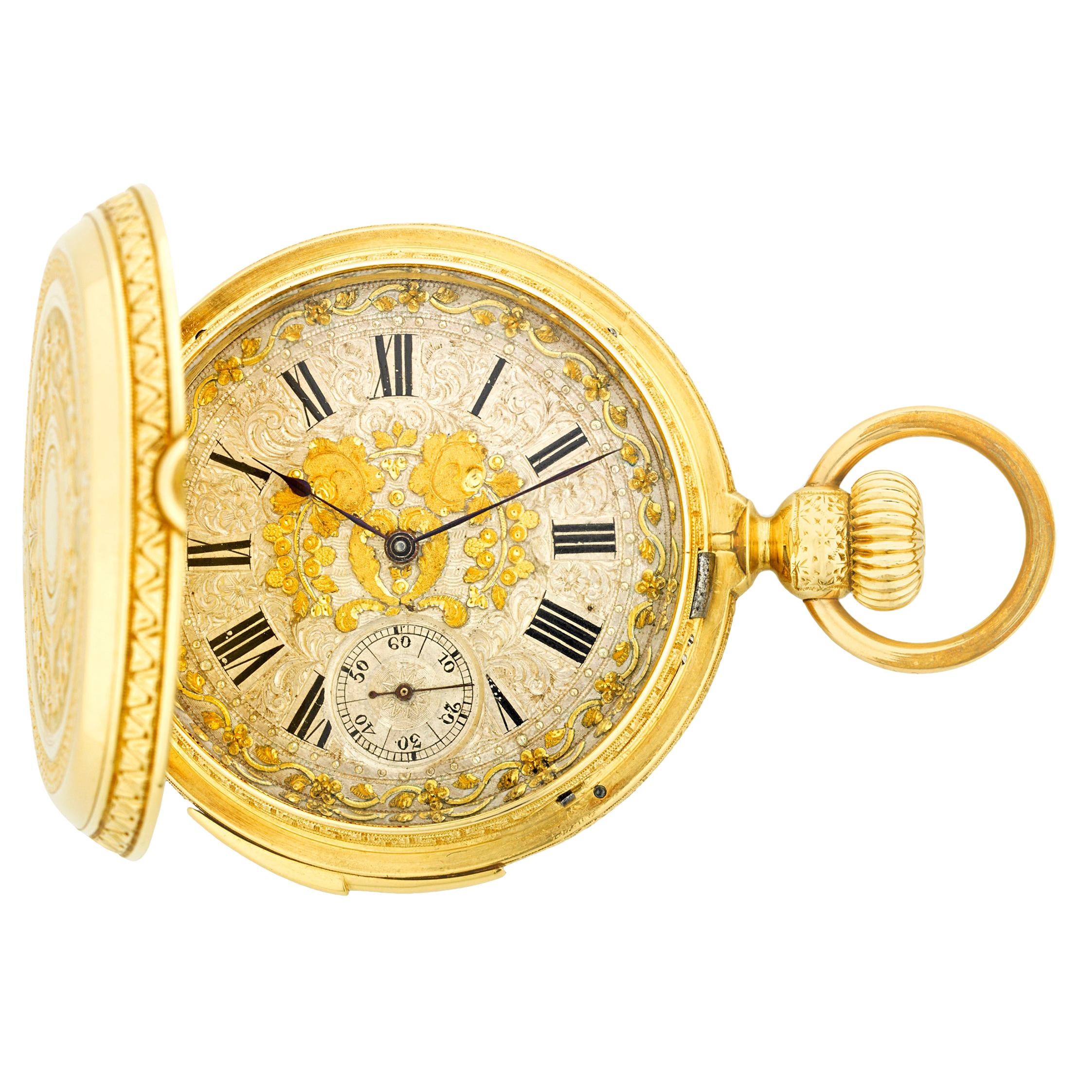 Gold Minute Repeater Swiss Pocket Watch