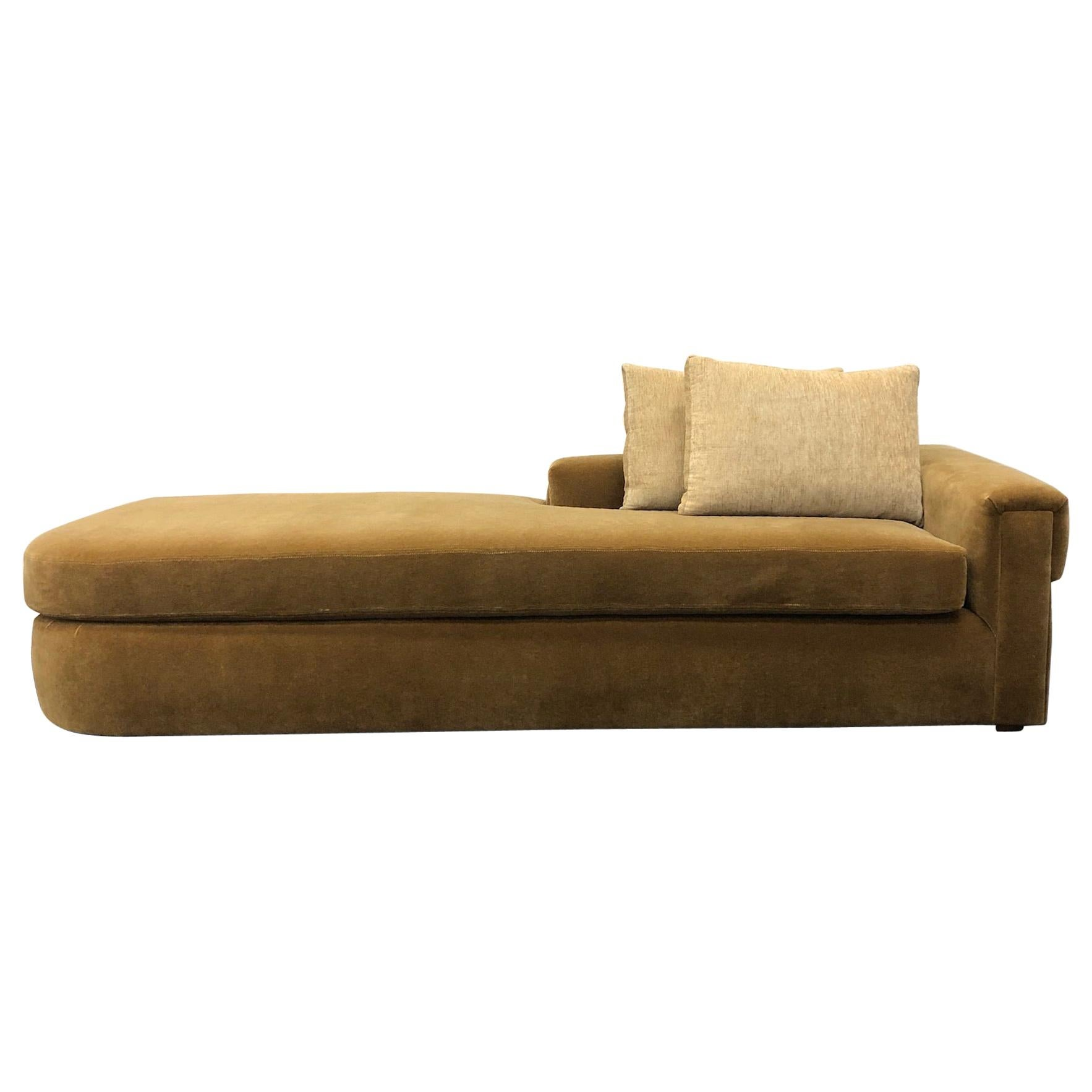 Gold Mohair Chaise by Steve Chase