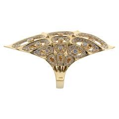 18K Gold Morphogen Shield Ring by John Brevard