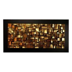 Gold Mosaic Wall Sculpture by Roberto Milan Scultura