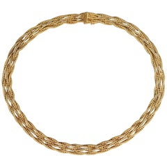Gold Multistrand Choker Necklace