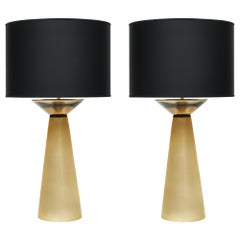 Gold Murano Glass Table Lamps