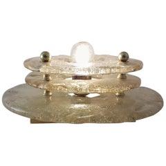 Gold Murano Table Lamp