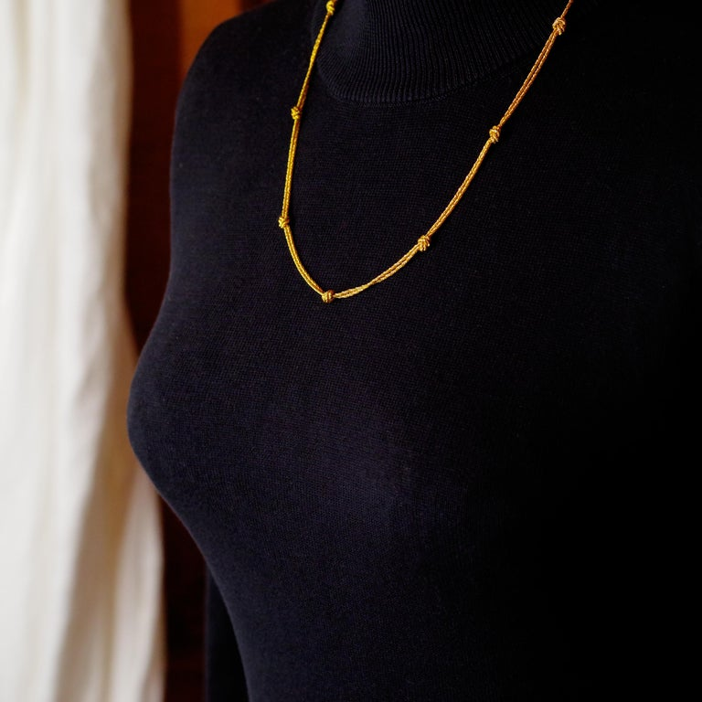 Gold Necklace by Tiffany & Co., Germany For Sale 3