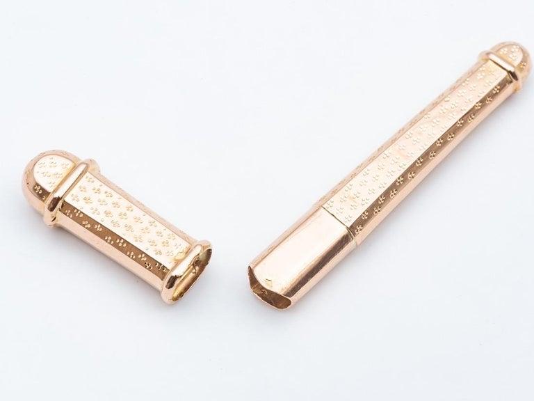 Women's or Men's Gold Needle 18 Karat For Sale