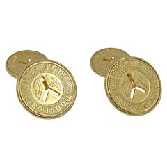 Gold New York City Subway Token Cufflinks
