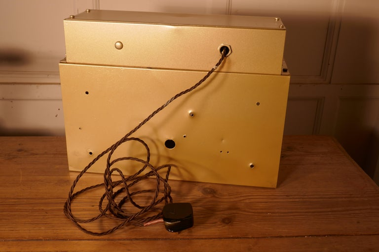 Gold Odeon Cinema Exit Sign Electric Light  For Sale 1