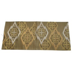 Gold on Gold Geometric Pattern Vintage Obi Textile